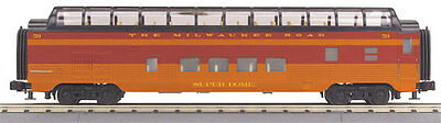 MTH Electric Trains 60' Streamlined ABS Full-Length Vista Dome - 3-Rail - Ready
