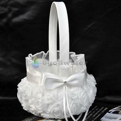 Wedding Party Flower Girl Basket Fleur bouquet basket of flowers for Wedding CA