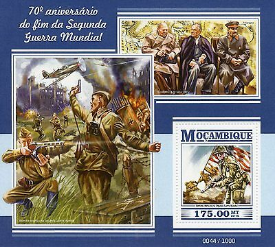 Mozambique 2015 MNH WWII Second World War II 70th End 1v S/S Churchill Stamps