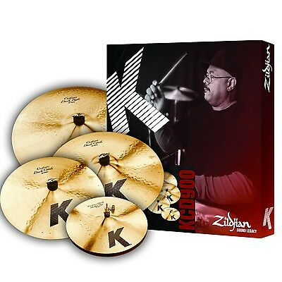 Zildjian *GRATISVERSAND* K Custom Dark Cymbal Becken Set Pack FREE 18 Crash!
