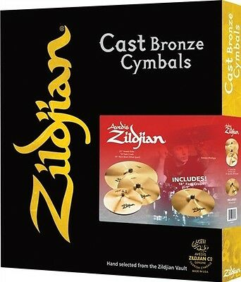 Zildjian GRATISVERSAND 5pc A Avedis Becken Cymbal Set Pack w/ Sweet Ride FREE 18
