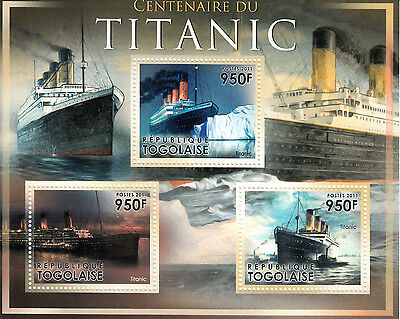 Togo 2011 MNH RMS Titanic Centenary Launch 3v M/S Ships Boats Stamps