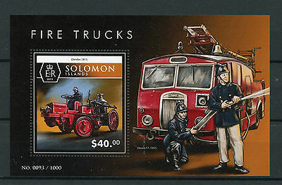 Solomon Isl 2015 MNH Fire Trucks 1v S/S Fire Engines Christie Dennis F7 Stamps
