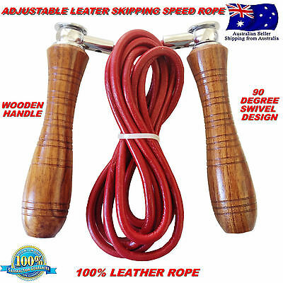HB LEATHER SKIPPING JUMP SKIPP SPEED JUMPING ROPE SWIVEL FITNESS Boxing MMA UFC