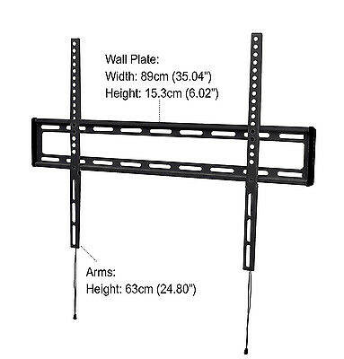 "iQ Low-Profile Flat Wall Mount for 47"" to 84"" Flat Panel TV's (IQXF4784)"