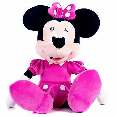Disney Minnie Mouse 17 Inch / 43 Cm Plush Soft Toy Bowtique Hot Pink Brand New