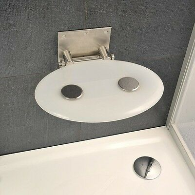 Ravak Folding Wall Mounted Designer Opal Shower Seat Ovo P