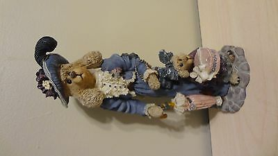 """1998 Boyds Bears & Friends """"The Folkstone Collection"""" Figurine #2875 Mother/Baby"""