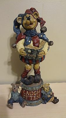 """1999 Boyds Bear Collection """"Carvers Choice"""" Figurine #370054 Jester Laugh Often"""