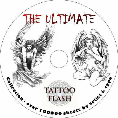 The Ultimate Tattoo Flash Collection - over 100000 sheets by artist.
