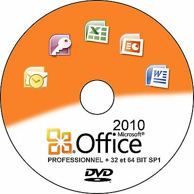 Office 2010 Pro + 32 et 64 bits SP1 Français ( installation, restauration ).