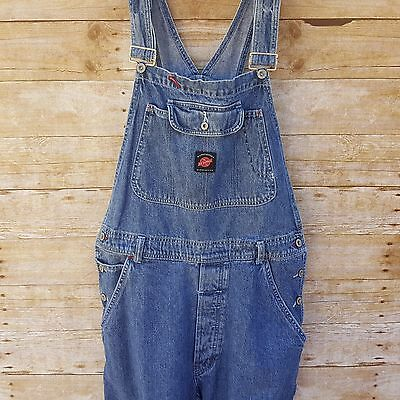 American Eagle Outfitters Dungaree AE Adult Sz M Distressed Jean Denim Overalls