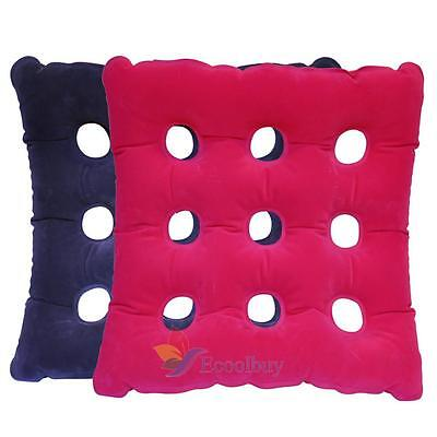 Inflatable Portable Air Seat Cushion Posture Chair Back Relief Support Pad #A