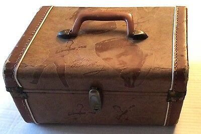 Elvis Presley - 1956 EPE Brown Overnight Case with Mirror
