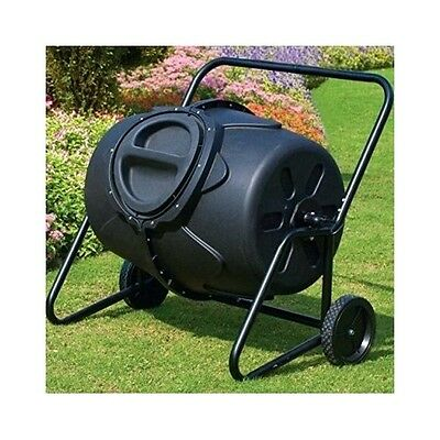 Garden Compost Bin Tumbler Soil Large Barrel Rotating Recycle Waste Lt 50 Gallon