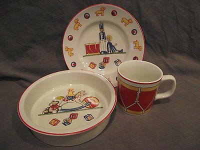 Tiffany & Co Tiffany Toys 3 Piece Set - Plate, Bowl, and Cup - Mason's Backstamp