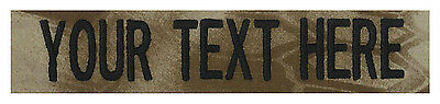 "Regulation Military Name Tapes 1""x5"", Tactical & with LOGO - Made in the USA!!!"
