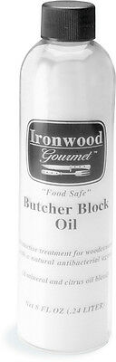 Ironwood Gourmet Butcher Block Mineral Oil Anti-Bacterial 8Oz Preservative New