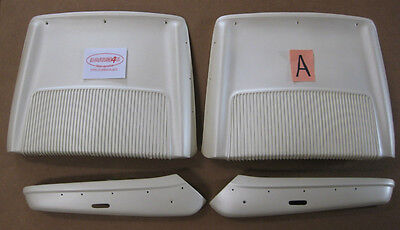 Chrysler 300 Polara 500 Plymouth Sport Fury 1968 1970 C-body Seat Back WHITE