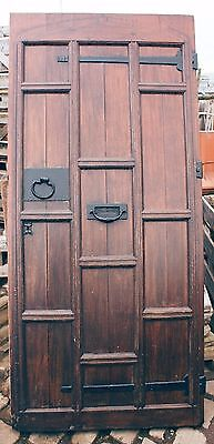 Beautiful Reclaimed Large Antique Oak Front Door Victorian Exterior Knocker #D42