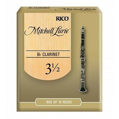 Rico Mitchell Lurie Bb Clarinet Reeds #3.5 (10-Pack) NEW