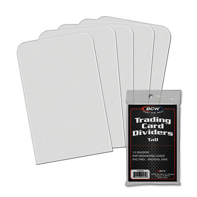 BCW 1-TCD-TALL BCW Tall trading card dividers