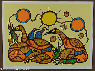 Norval Morrisseau RCA Signed Limited Edition Print SPIRITUAL FEAST