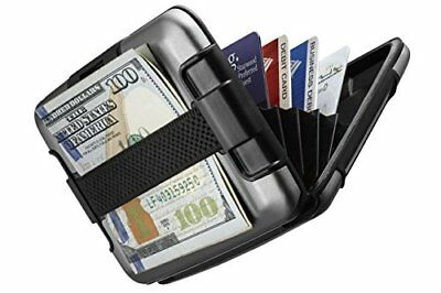 Sharkk RFID Protected Aluminum Wallet with Cash Band Rugged Card Case Wallet New