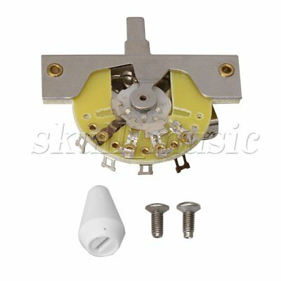 BQLZR White Switch Knob 5-way Pickup Lever Switch for Electric Guitar