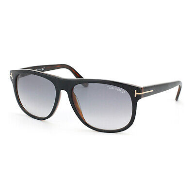 1e545757e65 New Tom Ford Olivier FT0236 Sunglasses 05B Black Brown Grey Gradient Lens  58mm