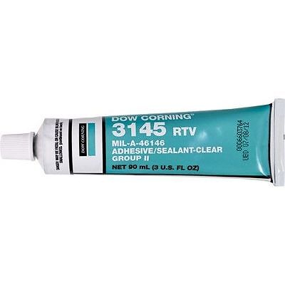 Dow Corning 3145 RTV Silicone Adhesive 3 oz Tube New Unopened Mil-A-46146 Clear