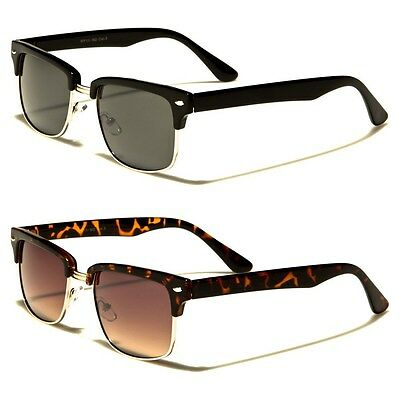Classic Retro Vintage Metal Half Frame Men and Women Fashion Sunglasses