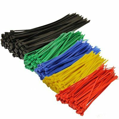 Topzone® Assorted Color Nylon Cable Zip Ties Self Locking, 250-Piece New