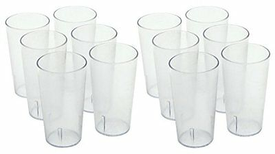 Winco - Clear Plastic Tumbler/Stackable Restaurant Beverage cup,1-Pack of 12,16