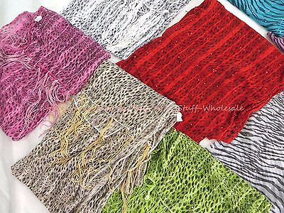 US SELLER-lot of 10 animal print fashion scarf new fashion women gift