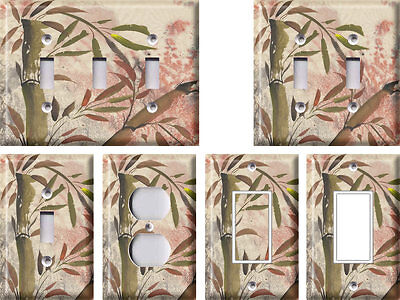 Bamboo Plant 1 - Light Switch Covers Home Decor Outlet