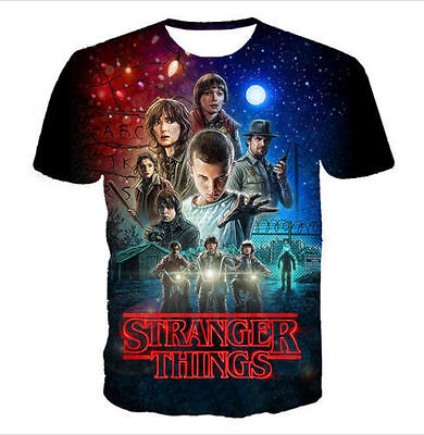 New Fashion Womens/Mens Stranger Things 3D Print Casual T-shirt plus size CS54