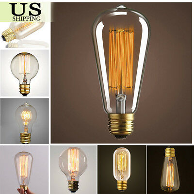 110V 40W 60W Filament Light Bulbs Vintage Retro Industrial Style Edison Lamp E26