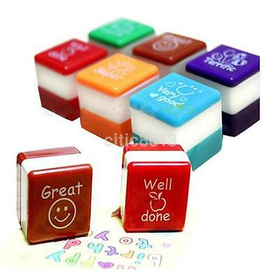 Set Of 6 Self Inking Stamp School Teacher Reward Classroom Well Done Stamps