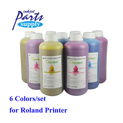 6colors x 1000ml Roland Eco Solvent Ink Eco Max Ink Bulk Ink for XJ740/640/XC540