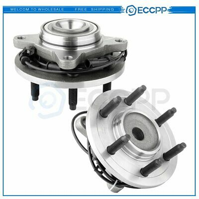 2 Front Wheel Bearing And Hub Assembly Pair Of Fits Expedition Navigator ABS