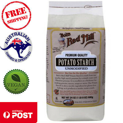 Bob's Red Mill -  Potato Starch, Unmodified, 680g - Gluten Free Kosher Thickener