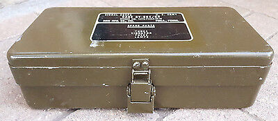 Vintage Signal Corps Spare Parts Box-US Army-Case CY-684/GR Phila, Penna-Clasp..