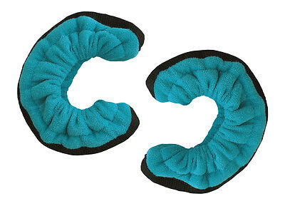 A&R TuffTerrys Ice Hockey Figure Skate Cloth Blade Cover Guards Small Teal