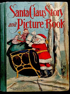 SANTA CLAUS STORY & PICTURE BOOK ~Antique 1900's Children's Christmas Book