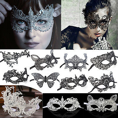 3D Eye Mask Sexy Lace Masquerade Christmas Dance Party Ball Costume Dress up