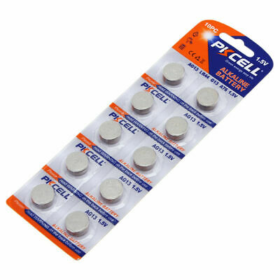 10x AG13 Alkaline Button Cell Battery LR44 A76 L1154 357 SR44 303 1.5V For Watch