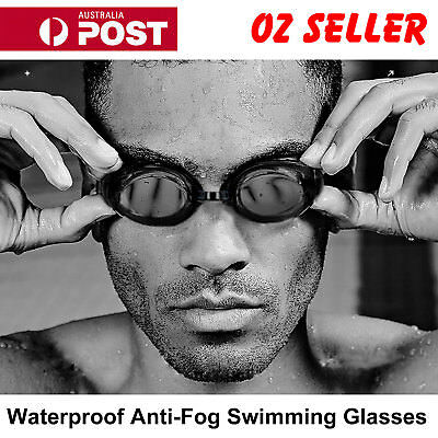 2x Adult Waterproof Anti-Fog UV Protect Swim Glasses Swimming Adjustable Goggles