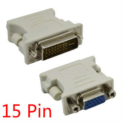 24+1 DVI-D Male to VGA Female Adapter Converter  Video Monitor Connector For TV