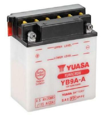 Yuasa YB9A-A Motorcycle Battery, with acid pack 12v